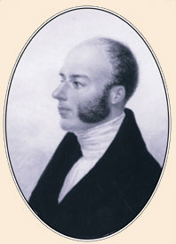 A less well known portrait of J.Barrande, about 1821-1822